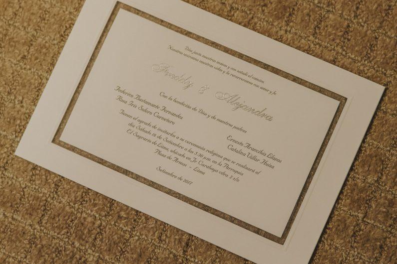 invitación boda hotel sheraton lima