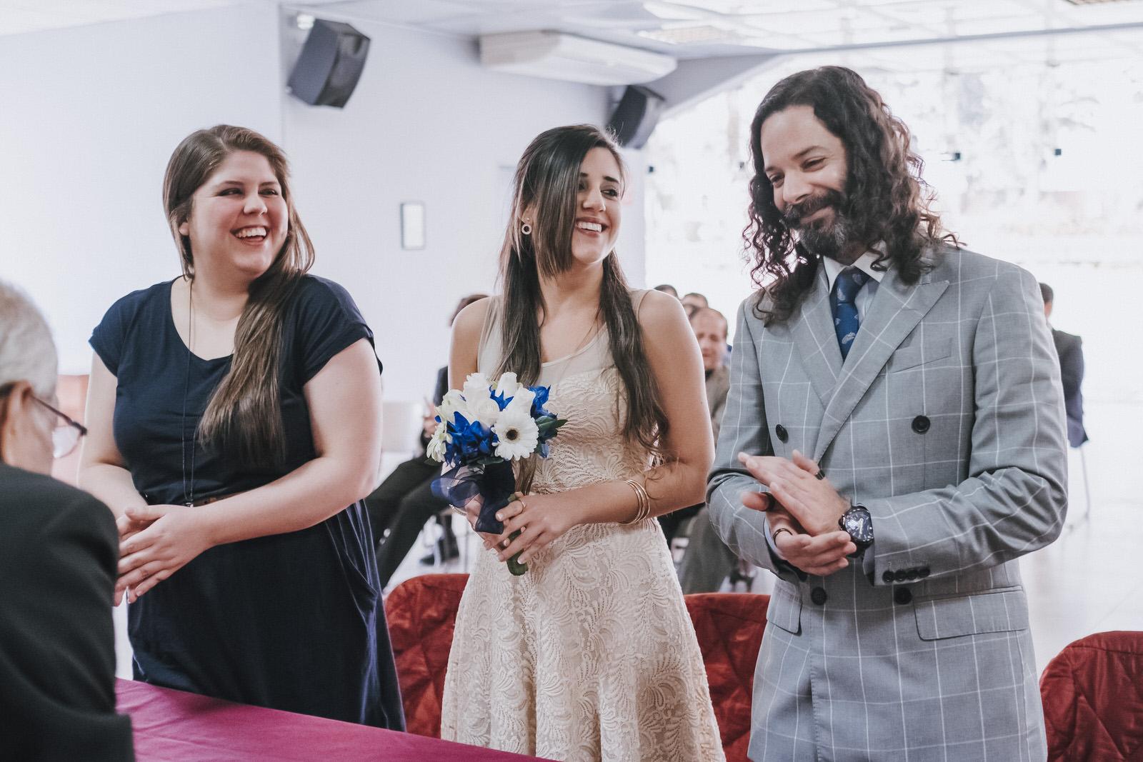 ceremonia civil novios en municipalidad de la molina